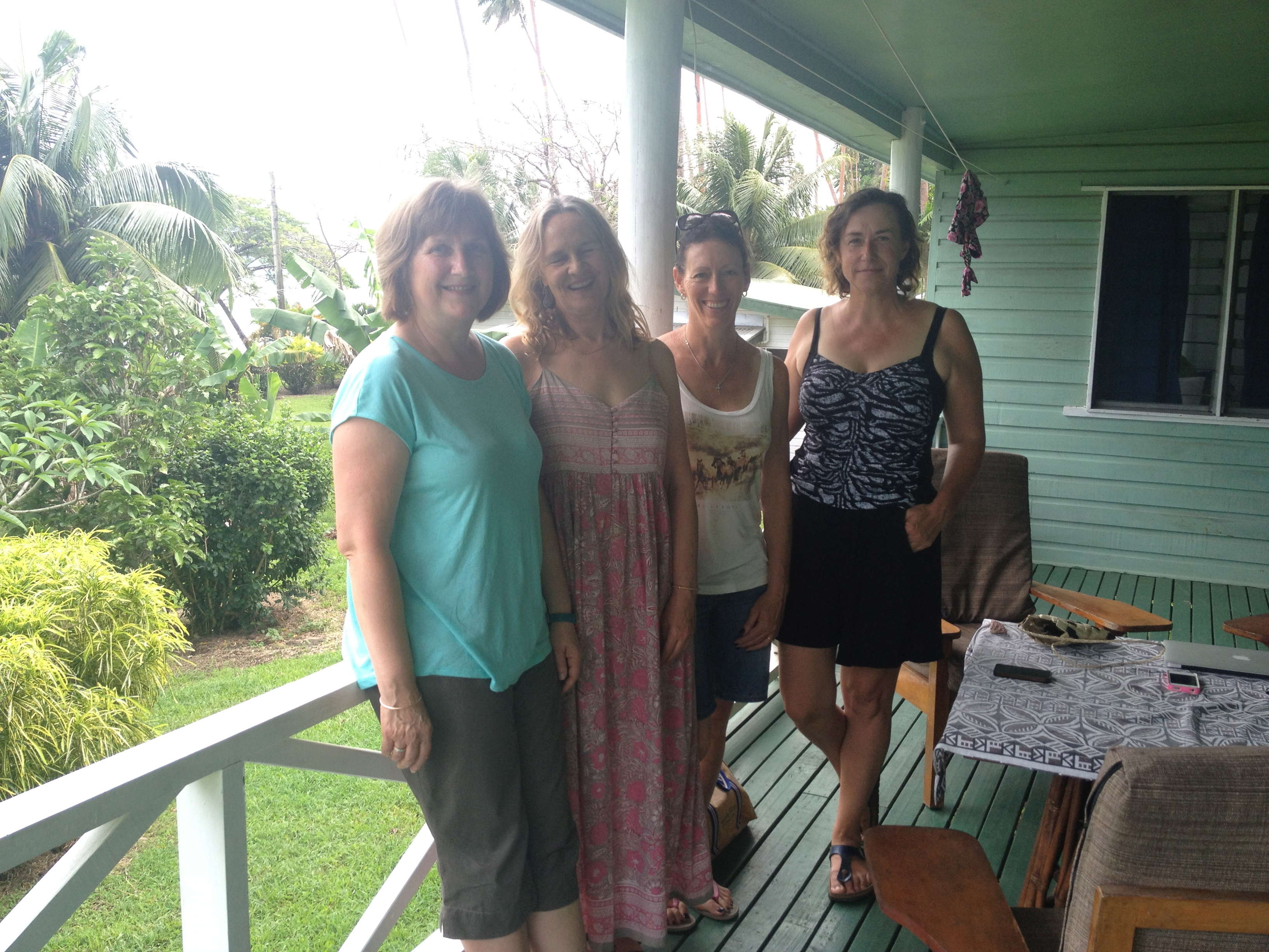 With my writing buddies at Daku Resort, Savu Savu.
